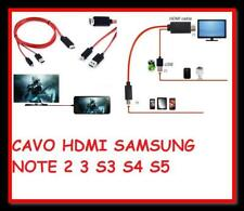 CABLE MHL PARA SAMSUNG GALAXY S3 S4 S5 NOTE 2 NOTE 3 HD MICRO USB A HDMI HDTV