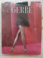 GERBE PARIS FRANCE 40 DENIER LUMIERE BLACK TIGHTS SPARKLE SEAM MEDIUM PANTYHOSE