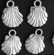 Free Ship 50Pcs Tibetan Silver(Lead-Free)shell Charms Pendants 12x9mm