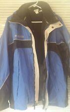 Columbia 3 in 1 Core Interchange Coat Blue Black Fleece Jacket Size M Medium