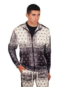 REBEL MINDS Paisley Track Jacket