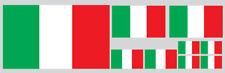 KIT 9 ADESIVI DECAL STICKERS BANDIERA ITALIA ITALY FLAG CASCO AUTO MOTO VINILE