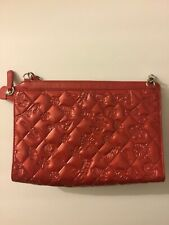 Mademoiselle Chanel Red Patent Leather Purse Embossed Designs Handbag Clutch