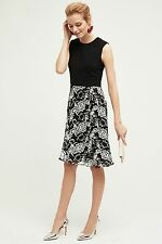 Anthropologie Monorose Midi Dress by Mikael Aghal Black White Size 8 $298