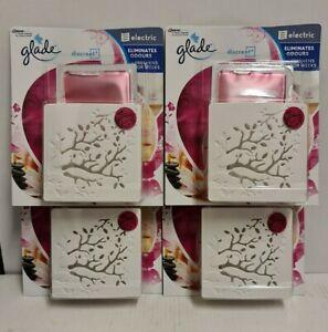 Glade Discreet refills &complete x4 = 4 refills 4 3pin plugs relaxing zen scent
