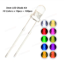 100pcs 3mm LED Diode Kit 3 mm 3V DIY Set Light Emitting Warm White Green red