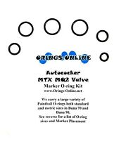Autococker MTX MQ2 Valve Paintball O-ring Oring Kit x 4 rebuilds / kits