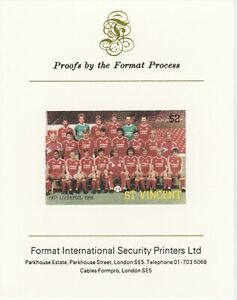 3199 St Vincent 1987 FOOTBALL - LIVERPOOL  on FORMAT INT PROOF CARD