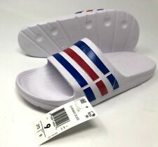 finest selection 63397 7f9f4 Adidas Duramo Slides Mens Size 9 10 11 12 Sandals Black White Navy Beach  Pool