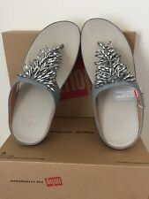 WOMEN`S FITFLOP RUMBA TOE-THONG SANDALS SIZE 8M DOVE BLUE NEW