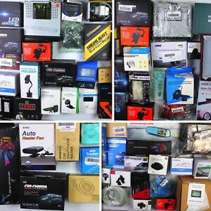 HUGE Wholesale Lot of Automotive/Consumer Electronics, 70 items, MSRP over $1800