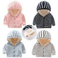 1pc baby kids girls boys autumn warm fleece coat jacket hoodie outerwear