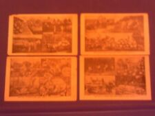 Rare 1910 Group Lot Martin Exaggeration 4 Postcards Black Men Watermelon & Fruit