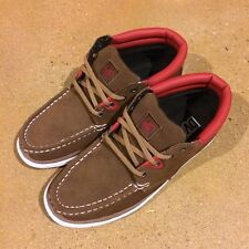 DVS Hunt Size 7.5 Bison Brown Suede  BMX DC Boat Skate Deck Shoes $78 Box
