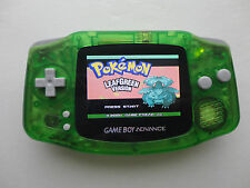 backlit ags101 nintendo game boy advance system clear green modded brighter lcd