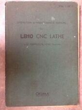 OKUMA LB10 CNC LATHE WITH OPS500L OPERATION & MAINTENANCE MANUAL Vol 1 of 2