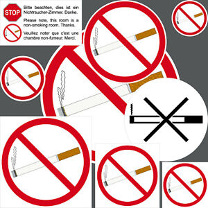 Sticker Smoking Verboten Untersagt Smoking Non-Smoking Room