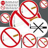 Adhesivo Pegatina Prohibido Fumar Untersagt Prohibición No Fumador Habitación