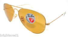 Authentic RAY-BAN Polarized Matte Aviator Sunglass RB 3025 - 112/O6 *NEW* 58mm