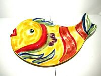 Under the Sea EUC Fish Shaped Ceramic Divided Serving Dish