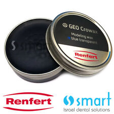 Dental Lab modeling wax blue transparent Renfert GEO Crowax 80 gr crown bridge