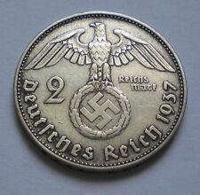 Germany NAZI 2 Mark 1937-D Silver Coin KM#93