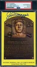 Joe Dimaggio PSA DNA Coa Autograph Hand Signed Gold HOF Plaque