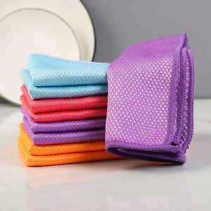 5PCS Special Fish Scale Wipes for Glass Cleaning Housework Cleaning Cloth Random