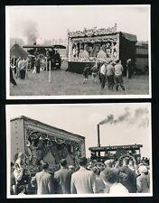 Haulage TRACTION ENGINE Durham Chester-le-Street Burrell #3471+ORGAN 1958x2PHOTO