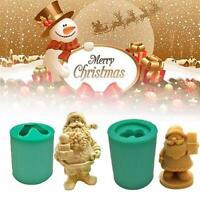 Silicone Christmas Santa Resin Mold 3D Santa Claus Mold for DIY  Figurine Crafts
