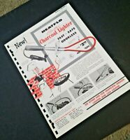 Vintage HEATFLO electric CHARCOAL LIGHTER 1962 Page from Manar Sales Catalog