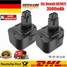 2 Stück 12V 3500mAh Ni-MH Akku für Dewalt DW9072 DC9071 DE9071 DE9072 DW9071 DE