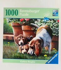 "Ravensburger ~ Curious Beagles ~ 1000 Piece Jigsaw Puzzle 27"" x 20"""