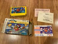 PEEPAR TIME Boxed/Complete JAPAN Ver Famicom FC Nintendo NES