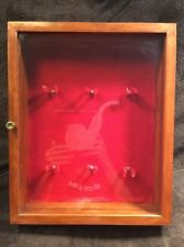 Tobacco Pipe Vintage Wall Hanging Curio Cabinet Shadow Box Display glass door