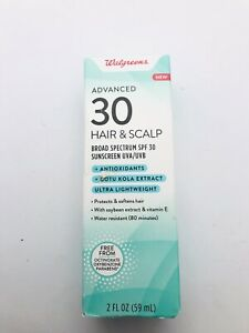 Walgreens Advanced Hair & Scalp SPF 30 Mist Sunscreen UVA/UVB 2 OZ EXP 11/21