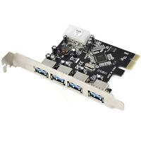 4 Port 5Gbps USB 3.0 PCI-E PCI Express Card Adapter for XP Vista Win 7 8