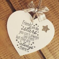 Friendship Sign Friend Are Like Stars Gift Plaque Present Keepsake Leaving Heart
