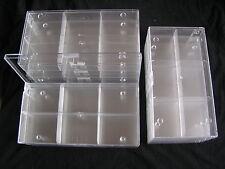 10 Stück Ü-Eier Setzkästen - Sammelbox, 6-er transp., Sortierbox, Sortierkasten