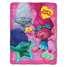 Trolls Let's Party License Super Plush Throw Blanket 46'' x 60'' Dreamworks