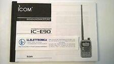 MANUALE IN TEDESCO istruzioni d'uso per ICOM IC-E90