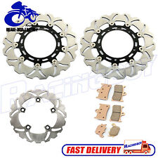 Front Rear Brake Disc Rotor + Pads for Yamaha YZF R6 2005-2016 YZF R1 2015 2016