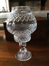 Crystal candle holder with globe top