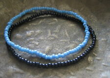 2 Surferarmband Armband Gummiarmband Surf hellblau schwarz Herren Damen Bracelet