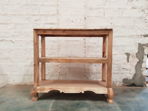 Wooden Console Hall Table Natural (MADE TO ORDER)