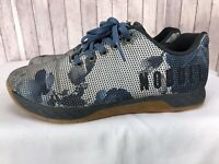NOBULL Superfabric Men's Blue/White Camo Cross-Fit Training Shoes Size US 8