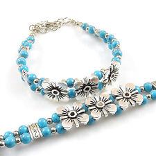 DIY NEW Fashion Free shipping Jewelry Tibet jade turquoise bead bracelet S234