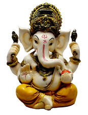 Home Decor Hand Carved God Ganesha Resin Idol Sculpture Statue Size 5.6 Inches