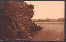 {BJSTAMPS} Postcard Old Mans Face Cave Rock Lake Tahoe CA Lady of the Lake 1910s