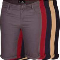 Mens Spindle High Quality Slim Stretch Cotton Chino Shorts Summer Smart Casual